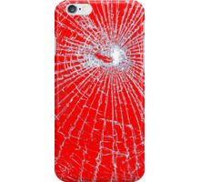 Broken Glass 2 iPhone Red iPhone Case/Skin