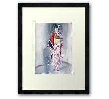 Samurai Girl Framed Print