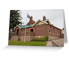 Omeo Court House Greeting Card