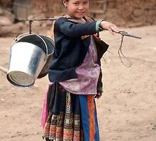 Girl Of Hmong Tribe of Northern Thailand by Peter Stephenson