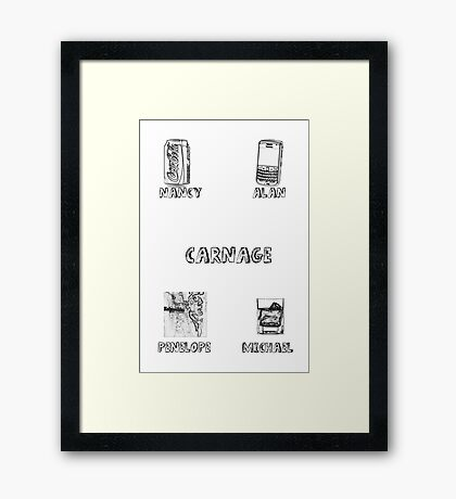Carnage Characters Framed Print