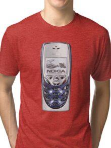Awesome funny retro phone  Tri-blend T-Shirt