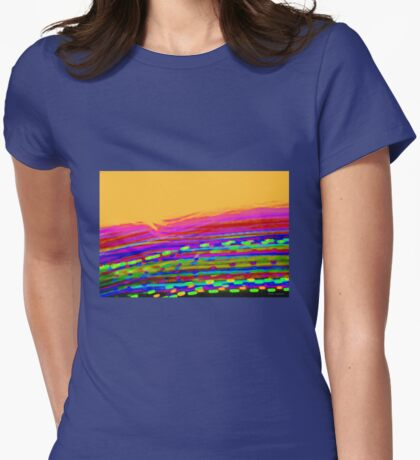 Christmas Day Sunrise Abstract Womens Fitted T-Shirt