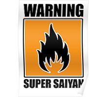 DBZ - Super Saiyan Warning Poster