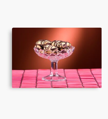 sponge cookies with chocolate Canvas Print