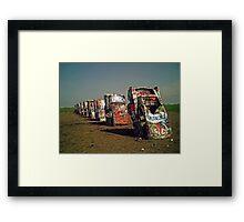 Cadillac Ranch Framed Print