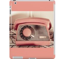 Retro rotary dial phone sepia toned iPad Case/Skin