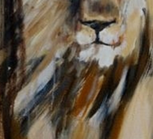 Lion Approaching Sticker