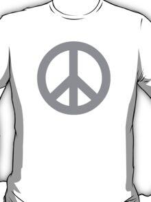 Gray Peace Sign Symbol T-Shirt