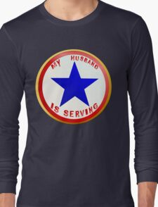 Blue Star Husband_whitebg T-Shirt