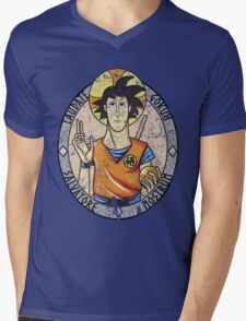 LAUDATE GOKUH Mens V-Neck T-Shirt