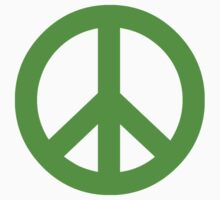 Bright Green Peace Sign Symbol Kids Clothes