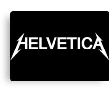Helvetica T-Shirt white font Canvas Print