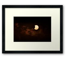 Solar Eclipse 2015 Ending Framed Print