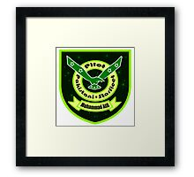 Pakistani Starfleet Elite Robostan Force Pilot Badge Framed Print
