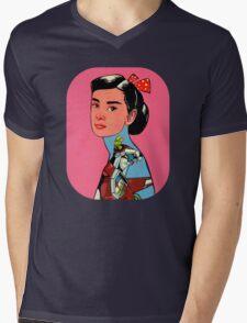 Audrey Loves Voltron Mens V-Neck T-Shirt