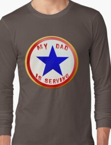 Blue Star Dad_whitebg T-Shirt