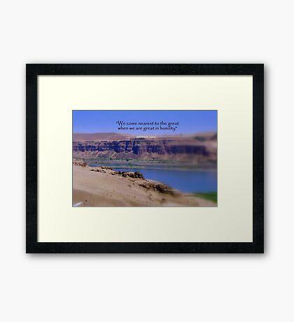 Columbia Gorge Framed Print