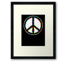 Circled Peace Sign Symbol 2 Framed Print