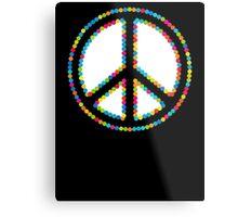 Circled Peace Sign Symbol 2 Metal Print