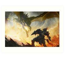 The Elder Scrolls V - Draconic Armor Art Print