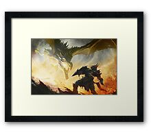 The Elder Scrolls V - Draconic Armor Framed Print