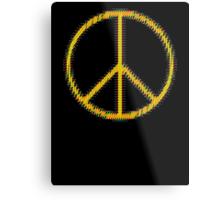 Peace Sign Symbol Abstract 5 Metal Print