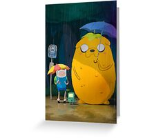 Adventure Time Finn and Jake Greeting Card