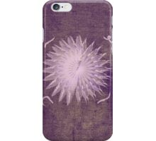 Purple Abstract Flower iPhone Case/Skin