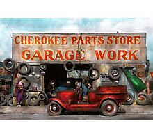 Car - Garage - Cherokee Parts Store - 1936 Photographic Print