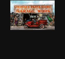 Car - Garage - Cherokee Parts Store - 1936 Unisex T-Shirt