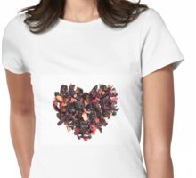petals tea formed in heart shape Womens Fitted T-Shirt