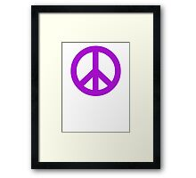 Purple Peace Sign Symbol Framed Print
