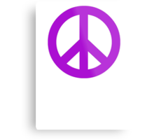Purple Peace Sign Symbol Metal Print