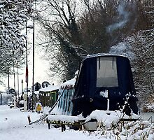 Barges in the snow by drbeaven