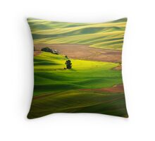 Silky Green Throw Pillow