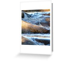 Ice Age - Water Motion Down Rocks Greeting Card