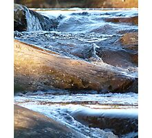 Ice Age - Water Motion Down Rocks Photographic Print