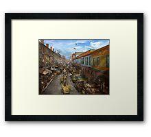 City - Baltimore MD - Traffic on light street - 1906 Framed Print