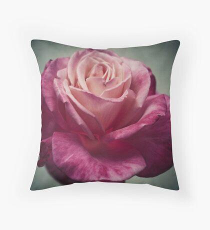 A Rose After Rainfall Throw Pillow