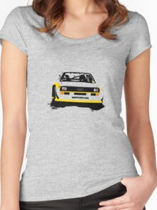 Audi Quattro S1 Rally Car Women's Fitted Scoop T-Shirt