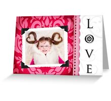 Heart Shaped Pigtails Greeting Card