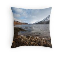 Loch Leven and the Pap of Glencoe. Throw Pillow