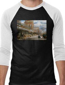 City - Kansas City farmers market - 1906 Men's Baseball ¾ T-Shirt