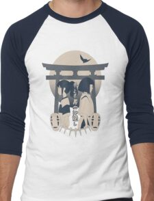 Spirited Away (blue) Men's Baseball ¾ T-Shirt