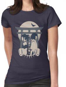 Spirited Away (blue) Womens Fitted T-Shirt
