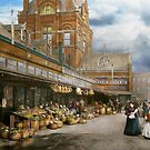 City - Kansas City farmers market - 1906 by Mike  Savad