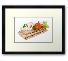 dry crisp bread slices Framed Print