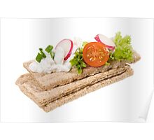 dry crisp bread slices Poster