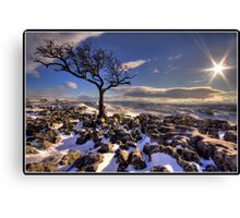Views from the top of Conistone Canvas Print